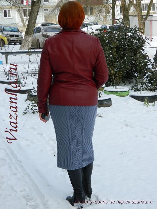 юбка спицами для женщин_4
