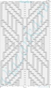 """схема вязания узора """"Макраме"""""""