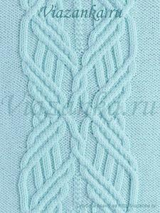 "образец вязания узора ""Макраме"""