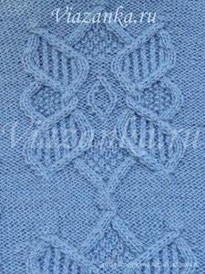 """образец вязания узора """"Каменный цветок"""""""