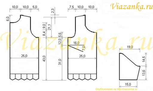 схема вязания ажурного джемпера