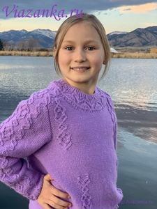Плечо свитера для девочки