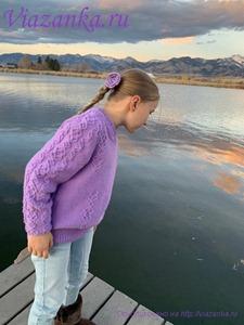 Рукав свитера для девочки. Общий вид